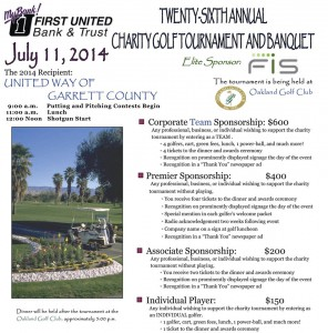 26th Annual First United Charity Golf Tournament @ Oakland Golf Club | Oakland | Maryland | United States